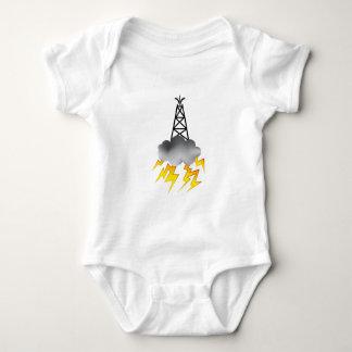 Fracking Oil Rig Symbol Graphic Baby Bodysuit
