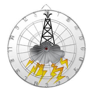 Fracking Oil Rig Symbol Graphic Dart Boards