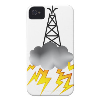 Fracking Oil Rig Symbol Graphic iPhone 4 Case-Mate Cases