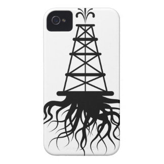Fracking Rig With Roots iPhone 4 Cases