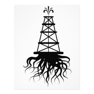 Fracking Rig With Roots Letterhead