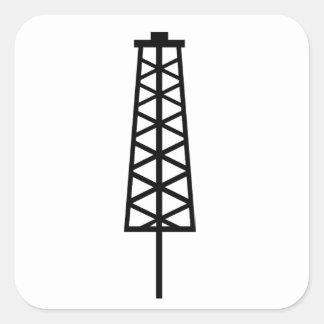 Fracking Tower Square Sticker