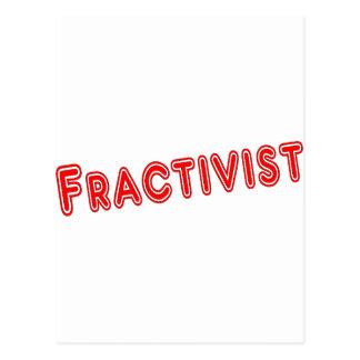 Fracktivist Postcard