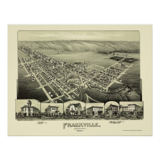 Frackville, mapa panorámico del PA - 1889 Posters