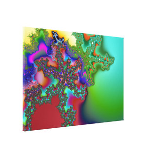 Fractal1 Impresión En Lienzo Estirada