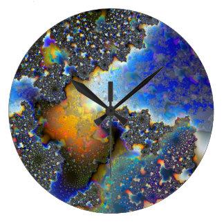 Fractal1 Reloj Redondo Grande