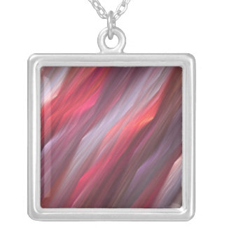 fractal217 silver plated necklace