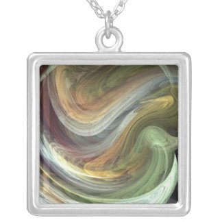 Fractal245 Silver Plated Necklace