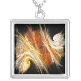 Fractal271 Silver Plated Necklace