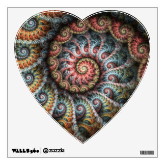 Fractal 04 Heart Wall Decal