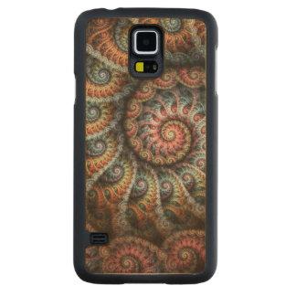 Fractal 04 Slim Wood Phone Case