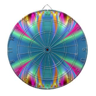 Fractal 101 dartboard with darts