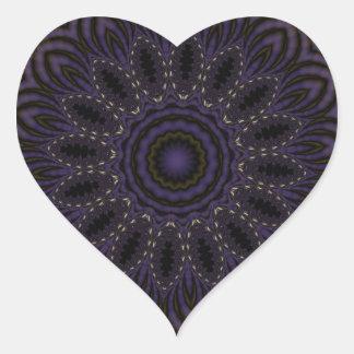 Fractal 124 del caleidoscopio colcomanias corazon personalizadas