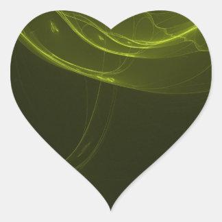 fractal-128-ut pegatina en forma de corazón
