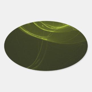 fractal-128-ut pegatina ovalada