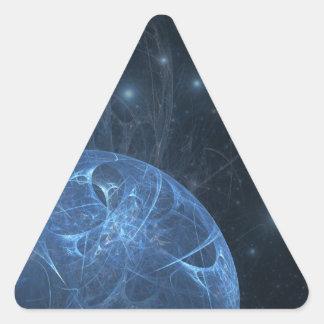 fractal-12-blue-creation pegatina triangular