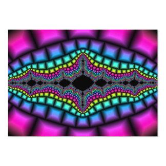 "fractal-139213 fractal art artwork digital art abs 5"" x 7"" invitation card"