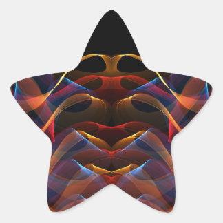 Fractal 13 de la llama pegatina en forma de estrella