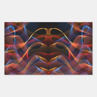 Fractal 13 de la llama pegatina rectangular