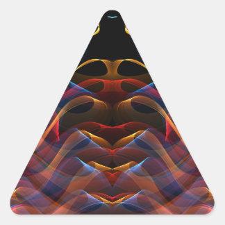 Fractal 13 de la llama pegatina triangular