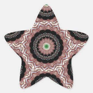 Fractal 13 del caleidoscopio pegatina en forma de estrella