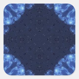 Fractal 13 del mosaico pegatina cuadrada