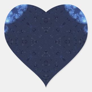 Fractal 13 del mosaico pegatina en forma de corazón