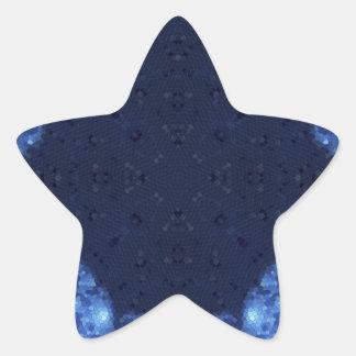 Fractal 13 del mosaico pegatina en forma de estrella