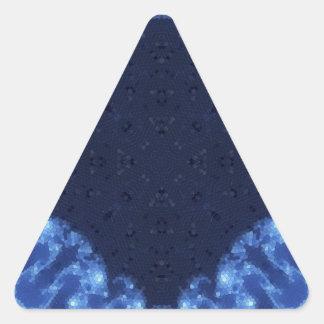 Fractal 13 del mosaico pegatina triangular