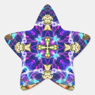 Fractal 193 del caleidoscopio calcomanias forma de estrella