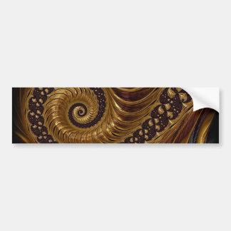 fractal-199054 BROWNS GOLDS SWIRLS fractal spiral Bumper Stickers