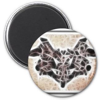 Fractal 1 de Rorschach Imán Redondo 5 Cm