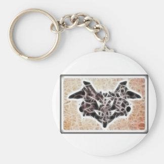Fractal 1 de Rorschach Llavero Redondo Tipo Pin