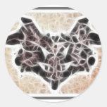 Fractal 1 de Rorschach Pegatinas Redondas