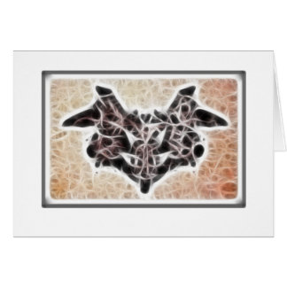 Fractal 1 de Rorschach Felicitación