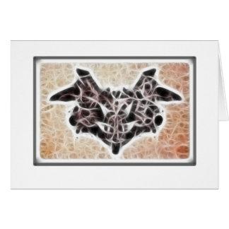 Fractal 1 de Rorschach Tarjeta De Felicitación
