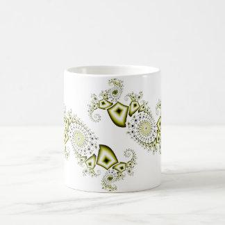 Fractal #1 taza básica blanca
