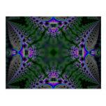 Fractal 211 del caleidoscopio tarjetas postales