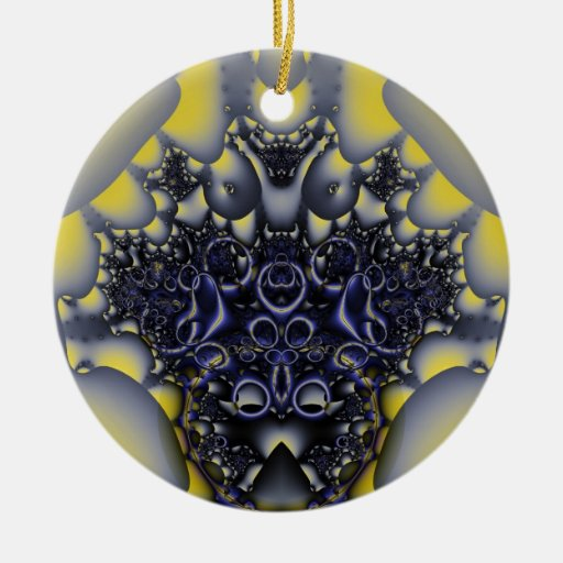 Fractal 21 adorno redondo de cerámica