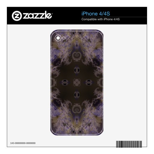 Fractal 264 del caleidoscopio iPhone 4 calcomanías