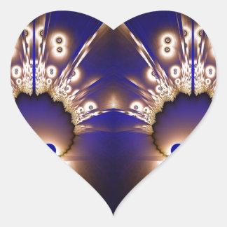 Fractal 266 heart sticker
