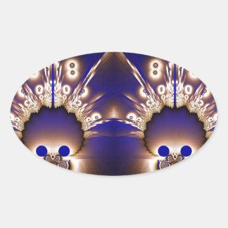 Fractal 266 oval sticker