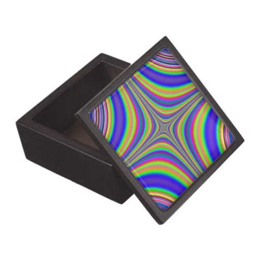 Fractal 2 de la estrella del arco iris caja de joyas de calidad