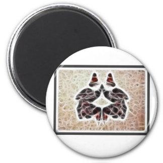 Fractal 2 de Rorschach Imán Redondo 5 Cm