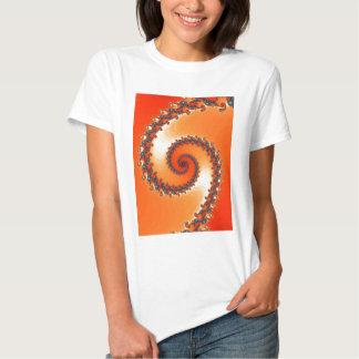 fractal-302552 VIBRANT ORANGE DIGITAL ART  fractal T-Shirt