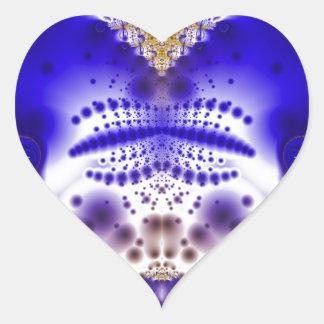 Fractal 305 pegatina de corazon personalizadas