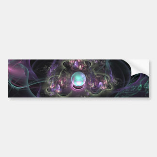 fractal-313795 FANTASY WORLDS ALIEN PLANET NEBULA Bumper Sticker