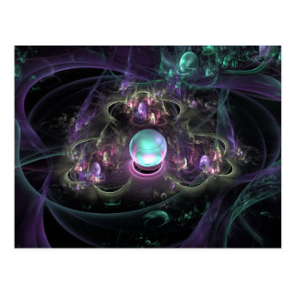 fractal-313795 FANTASY WORLDS ALIEN PLANET NEBULA Postcard