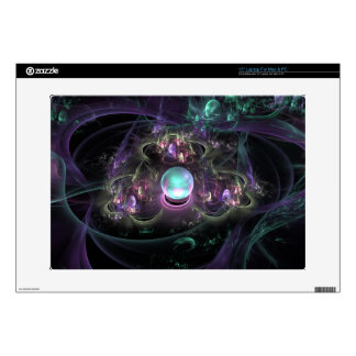 "fractal-313795 FANTASY WORLDS ALIEN PLANET NEBULA 15"" Laptop Decal"