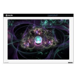 """fractal-313795 FANTASY WORLDS ALIEN PLANET NEBULA Decals For 17"""" Laptops"""